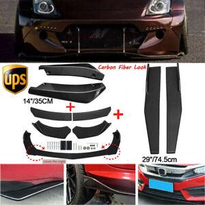 Carbon Fiber Side Skirt+Rear Lip+Front Bumper Spoiler Body Kit For Nissan Altima