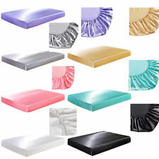 Mattress Protector Cover Satin Bed Protective Cover Bedroom Home Fitted Sheet