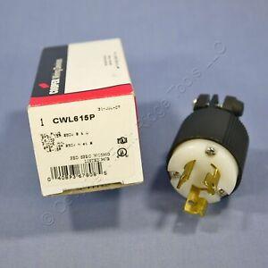 Cooper Turn Locking Plug Twist Hart-Lock NEMA L6-15 L6-15P 15A 250V CWL615P