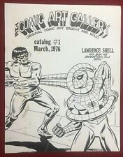 COMIC ART GALLERY CATALOG #1 (1976) Larry Shell comic book art fanzine VG+