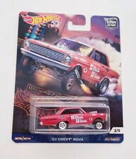 Hot Wheels 2018 Car Culture Dragstrip Demons '63 Chevy Nova Real Riders