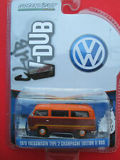 GREENLIGHT V-DUB 1978 VOLKSWAGEN TYPE 2 BUS CHAMPAGNE EDITION II MINT 1:64 SCALE
