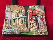Beverly Hills Frankie and Johnnie Canvas Purse with Rodeo Drive & Wilshire Blvd