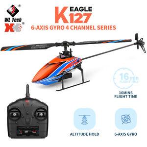 WLtoys K127 2.4G 4CH 6-Aixs Gyro Fixed Height Mini RC Helicopter RTF VS V911S