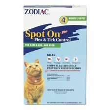 LM Zodiac Spot on Plus Flea & Tick Control for Cats & Kittens Cats over 5 lbs (4