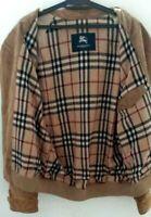 Burberry London   Khaki Corduroy  Bomber Nova Check Jacket  For Men Size 52.