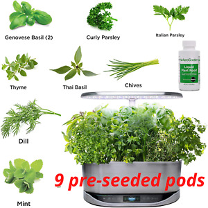 AeroGarden Gourmet Herb Seed Pot Kit 9 Pods Germination Indoor Gardening Grow