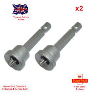 x2 50mm 1/4'' Magnetic DryWall Plasterboard Screwdriver Bits Depth Stop PH2
