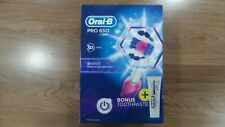 Oral-B Pro 650 PINK 3D Action Elec 3D White Rechargeable Toothbrush & T/Paste.