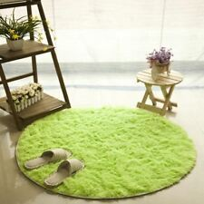 1 Pcs Anti-slip Faux Fur Area Rug Big Round Floor Carpets For Living Room Bathro