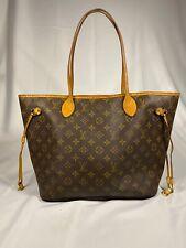 Authentic Louis Vuitton Neverfull MM Monogram Canvas Shoulder Tote Bag