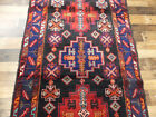 """3'9""""x7' Authentic Vintage Rare Traditional Handmade wool Oriental Foyer area rug"""