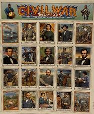 Scott 2975 Civil War 20 Stamps Lincoln, Grant, Douglass, Tubman, Sherman, Lee