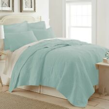 New Ocean View-Full/Queen Size Quilt ( Egg Blue)