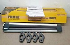 THULE Flat Top Ski or Snowboard Carrier Roof Rack with Locks And Clamps NO KEY