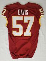 #57 Shiro Davis of Washington Redskins NFL Game Issued Lightly Worn Jersey