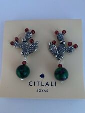 Citlali Nopal Sterling Silver Earrings. DMS9321AP