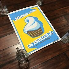 Johnny Cupcakes Signed Los Angeles 2 Year Anniversary Poster 32/100 RARE