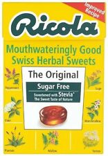Ricola Swiss Sugar Free Herb with Stevia herbal drops 45g Box (Pack of 10)