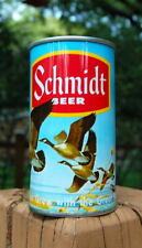 """000024Cb New listing """"Un-Upgradeable 34; Schmidt Yellow Stripe Series 4 Pull Tab Beer Can! Nat Can Co!"""