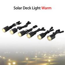 6 LED Light Solar Power Deck Bulbs Decorat For Garden Lamp Warm Fence Spotlights