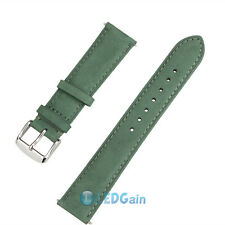 Suede Genuine Leather Watch Strap Band Teacher Stainless Steel Buckle and Bars