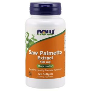 NOW Foods Saw Palmetto Extract 160 mg 120 Softgels FREE SHIPPING. MADE IN USA