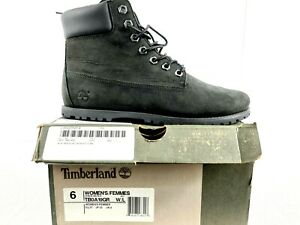 Timberland Women Boots Joslin Premium 6 Inch Black TB0A19GR Waterproof Lace US 6