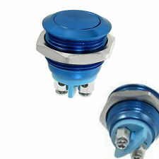Blue 16mm Anti-Vandal Momentary metal push button Switch Flat top for Box Mods
