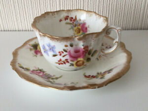 Vintage Hammersley Dresden Sprays Cup And Saucer