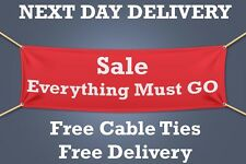 Sale Everything Must Go PVC Banner, SIGN Retail - 1.5m WIDE - NEXT DAY DELIVERY