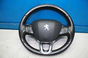 Peugeot 208 Bj.13 Multifunction Leather Steering Wheel With Airbag 96750123ZD