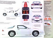 1992 Chevrolet Camaro Z/28 25th Anniversary Edition 305 EFI Info/Spec/photo 23x8