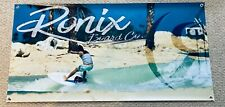 """Ronix Flyweight 2020 Banner 24"""" * 48"""" With 2 Ronix Wakesurf Stickers Decal"""