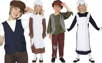 Childrens Poor Victorian Fancy Dress Costume & Hat Girls or Boys New by Smiffys