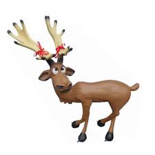 Weichnachten Renntier Figur Statue Lustige Figuren Weihnachts Dekoration Rudolf