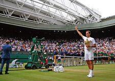 Roger Federer 8 Times Wimbledon Champion Wave POSTER