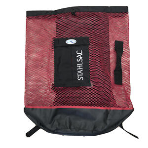 STAHLSAC  LARGE MESH GEAR BAG WITH BACKPACK STRAPS AND 2 POCKETS