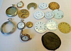Lot mit Teilen für Taschenuhren gebraucht aus UHRMACHERWERKSTATT