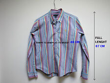 RALPH LAUREN BOYS MULTI COLOR SHIRT SIZE 4   PRE-OWNED SLIM FIT 100 % COTTON SEE