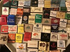 Lot Of 75 Vintage 1970s-80s Advertising Restaurant Unstruck Match Books
