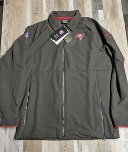 New Women's NIKE THERMA On-Field Tampa Bay Buccaneers Bucs Full-Zip Jacket SZ. L