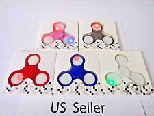 Wholesale lot 30x latest 3 modes LED Light Flash Hand Spinner Tri-Fidget EDC Toy