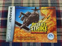 Desert Strike Advance - Authentic - Nintendo Game Boy Advance - GBA Manual Only!