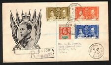 Seychelles 1937 KGVI Coronation Illustrated Registered Cover to USA