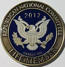 RNC Republican National Committee Life Member 2012 POTUS Election Year Priebus