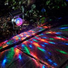 Outdoor Solar Garden Party Lights Landscape Path Yard Rotating Projector Light Q