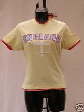 t shirt womens pale yellow tee shirt size 14 BNIP England