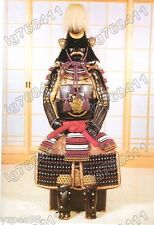 wearable Japanese Iron & Silk Rüstung Art Samurai Armor suit Black