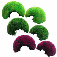 Aquarium Plastic Plant Cave Ornament Moss for Fish Tank - 3 Colours and 2 Sizes